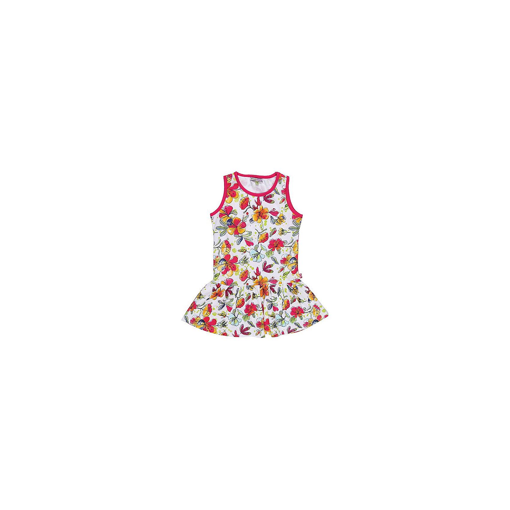 Платье для девочки Sweet BerryЛетние платья и сарафаны<br>Удобное платье из принтованного трикотажа.<br>Состав:<br>95% хлопок, 5% эластан<br><br>Ширина мм: 236<br>Глубина мм: 16<br>Высота мм: 184<br>Вес г: 177<br>Цвет: разноцветный<br>Возраст от месяцев: 24<br>Возраст до месяцев: 36<br>Пол: Женский<br>Возраст: Детский<br>Размер: 98,110,104,128,122,116<br>SKU: 4521180
