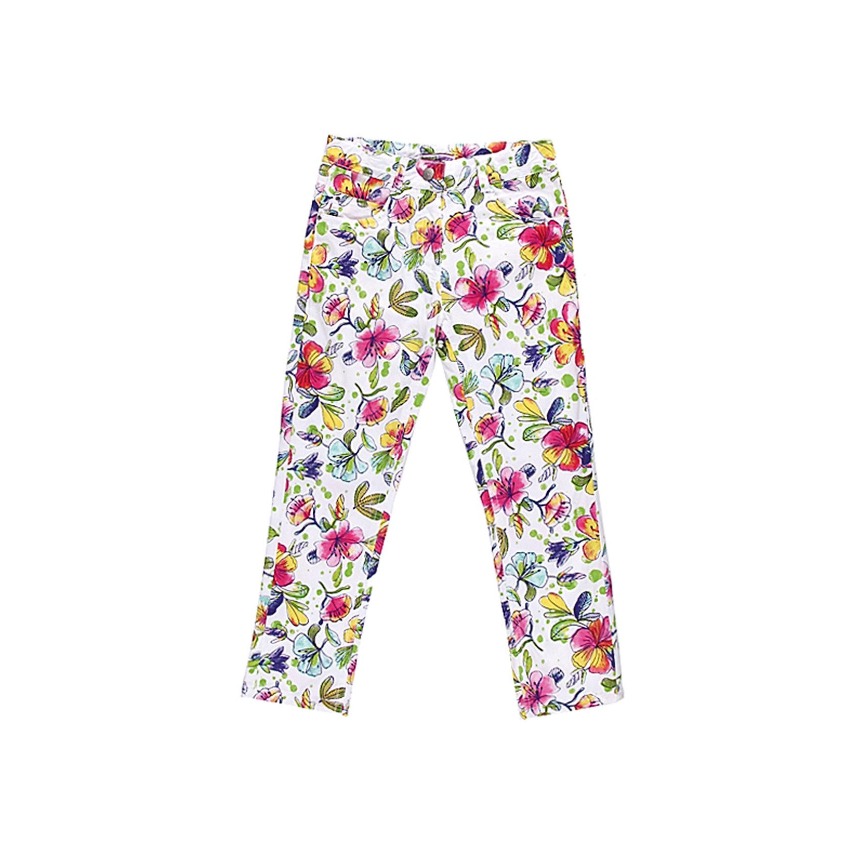 Брюки для девочки Sweet BerryЯркие принтованные летние брюки на девочку, из тонкого поплина.. Четыре функциональных кармана, пояс регулируется внутренней резинкой.<br>Состав:<br>98% хлопок,2% эластан<br><br>Ширина мм: 215<br>Глубина мм: 88<br>Высота мм: 191<br>Вес г: 336<br>Цвет: разноцветный<br>Возраст от месяцев: 36<br>Возраст до месяцев: 48<br>Пол: Женский<br>Возраст: Детский<br>Размер: 104,116,128,122,110,98<br>SKU: 4521187