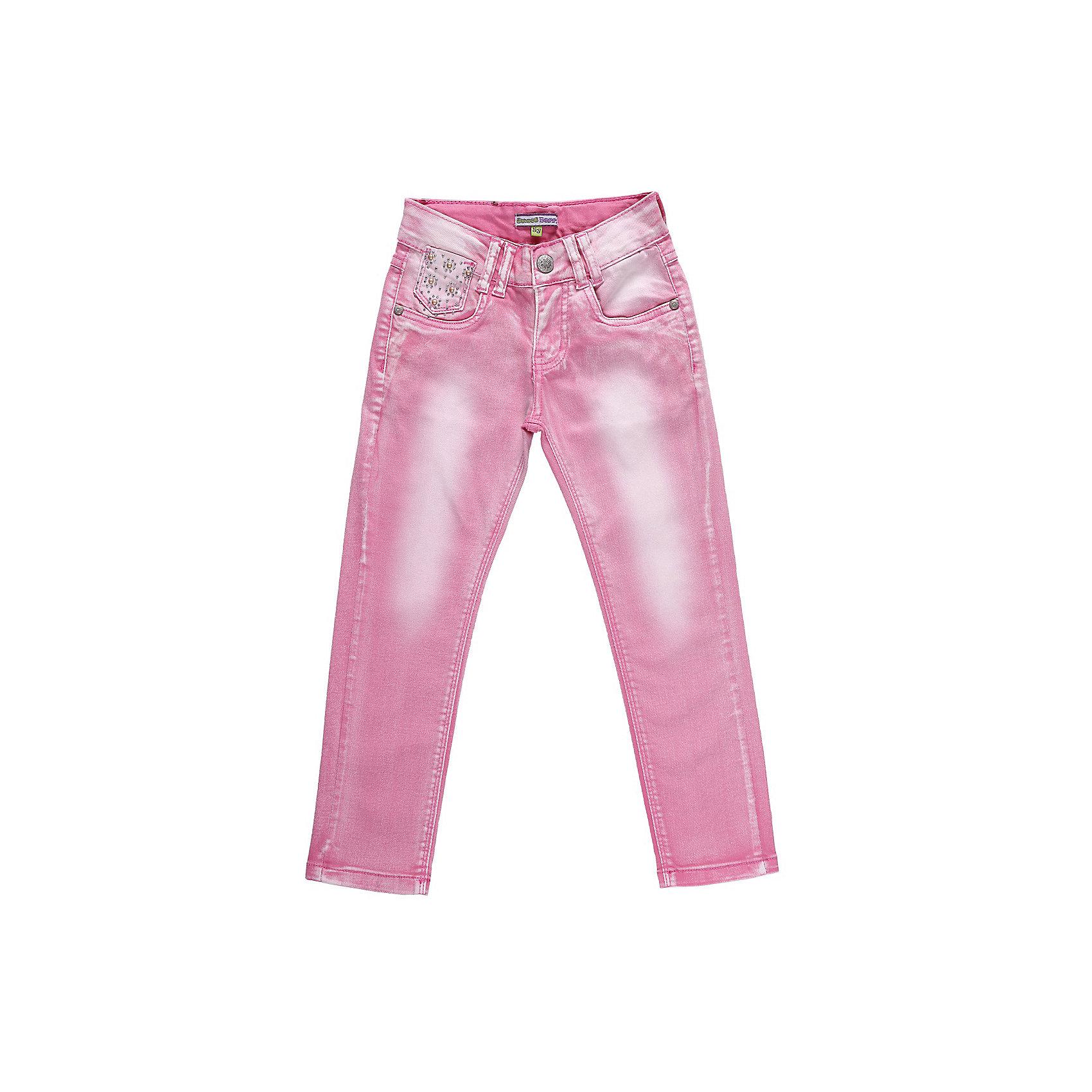 Джинсы для девочки Sweet BerryДжинсовая одежда<br>Розовые джинсы для девочки с регулировкой внутри по поясу<br>Состав:<br>98% хлопок, 2% эластан<br><br>Ширина мм: 215<br>Глубина мм: 88<br>Высота мм: 191<br>Вес г: 336<br>Цвет: розовый<br>Возраст от месяцев: 36<br>Возраст до месяцев: 48<br>Пол: Женский<br>Возраст: Детский<br>Размер: 104,128,98,122,116,110<br>SKU: 4521194