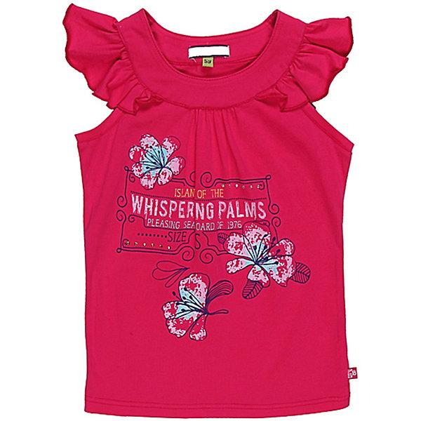 Футболка для девочки Sweet BerryФутболки, поло и топы<br>Яркая футболка из трикотажа.Приталенный силуэт. Принт со стразами и глитером.<br>Состав:<br>95% хлопок, 5% эластан<br><br>Ширина мм: 199<br>Глубина мм: 10<br>Высота мм: 161<br>Вес г: 151<br>Цвет: розовый<br>Возраст от месяцев: 48<br>Возраст до месяцев: 60<br>Пол: Женский<br>Возраст: Детский<br>Размер: 110,116,122,128,98,104<br>SKU: 4521243