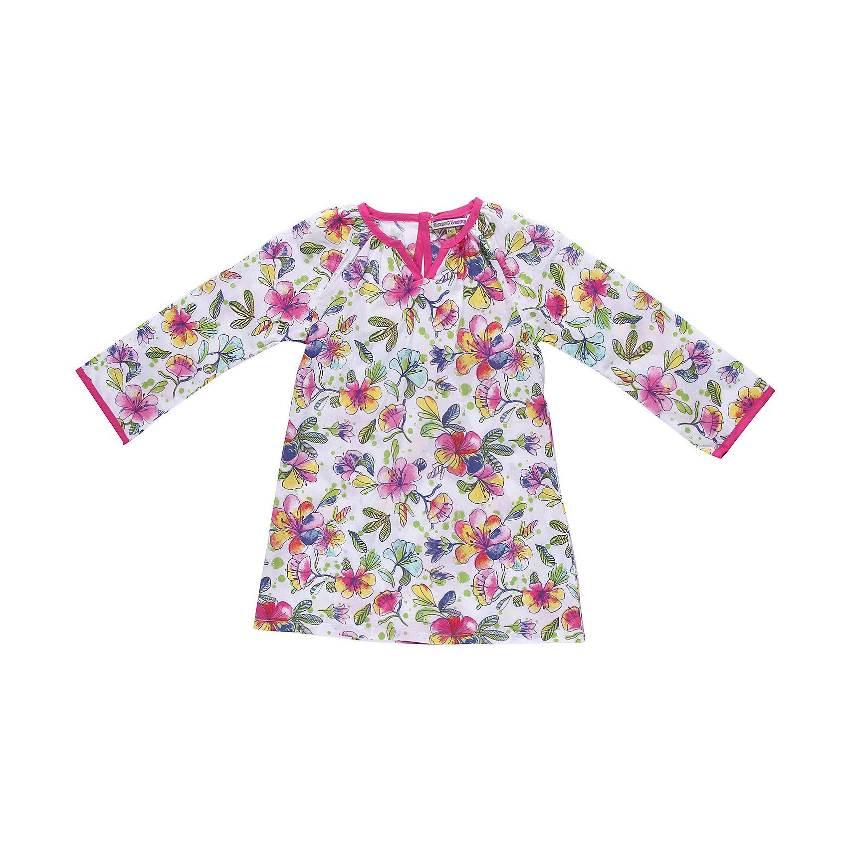 Платье для девочки Sweet BerryПляжное платье из тонкого хлопка, оригинальный цветочный принт. Отделка из ткани контрастного цвета.<br>Состав:<br>100% хлопок<br><br>Ширина мм: 236<br>Глубина мм: 16<br>Высота мм: 184<br>Вес г: 177<br>Цвет: разноцветный<br>Возраст от месяцев: 24<br>Возраст до месяцев: 36<br>Пол: Женский<br>Возраст: Детский<br>Размер: 98,104,110,128,116,122<br>SKU: 4521290