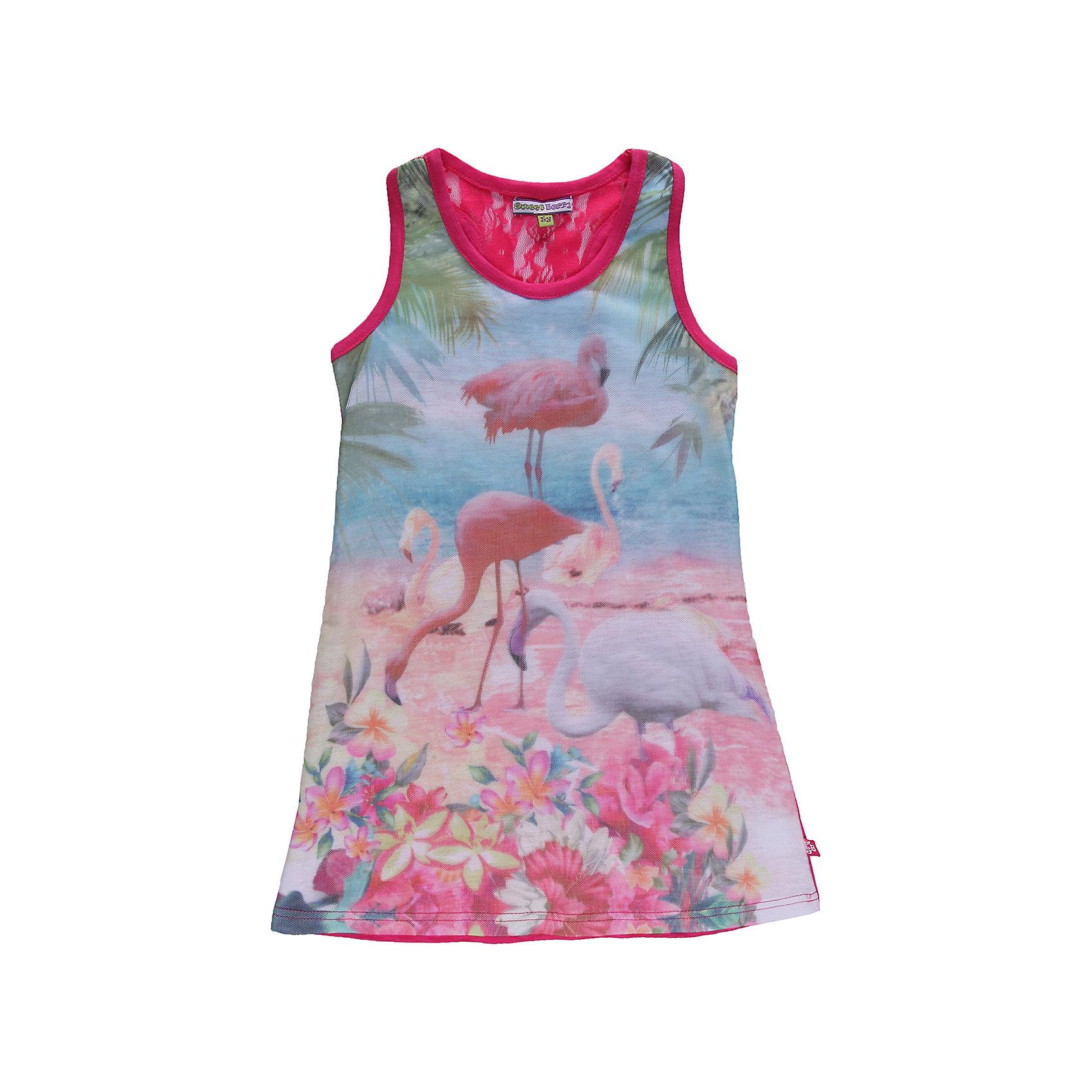 Платье для девочки Sweet BerryЛетние платья и сарафаны<br>Платье с 3D  эффектом, двойная полочка из трикотажа и сетки.<br>Состав:<br>95% хлопок, 5% эластан<br><br>Ширина мм: 236<br>Глубина мм: 16<br>Высота мм: 184<br>Вес г: 177<br>Цвет: розовый<br>Возраст от месяцев: 24<br>Возраст до месяцев: 36<br>Пол: Женский<br>Возраст: Детский<br>Размер: 98,122,110,104,128,116<br>SKU: 4521311