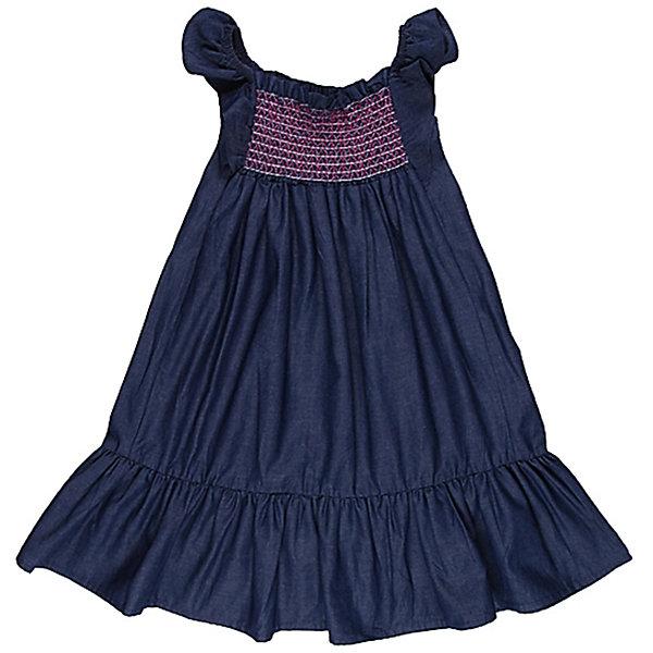 Сарафан джинсовый для девочки Sweet BerryДжинсовая одежда<br>Сарафан на девочку из тонкой джинсы, рукава-крылышки, лиф прошит разноцветными эластичными нитками, по низу пришита широкая оборка.<br>Состав:<br>100% хлопок<br>Ширина мм: 236; Глубина мм: 16; Высота мм: 184; Вес г: 177; Цвет: синий; Возраст от месяцев: 24; Возраст до месяцев: 36; Пол: Женский; Возраст: Детский; Размер: 98,104,116,110,122,128; SKU: 4521318;