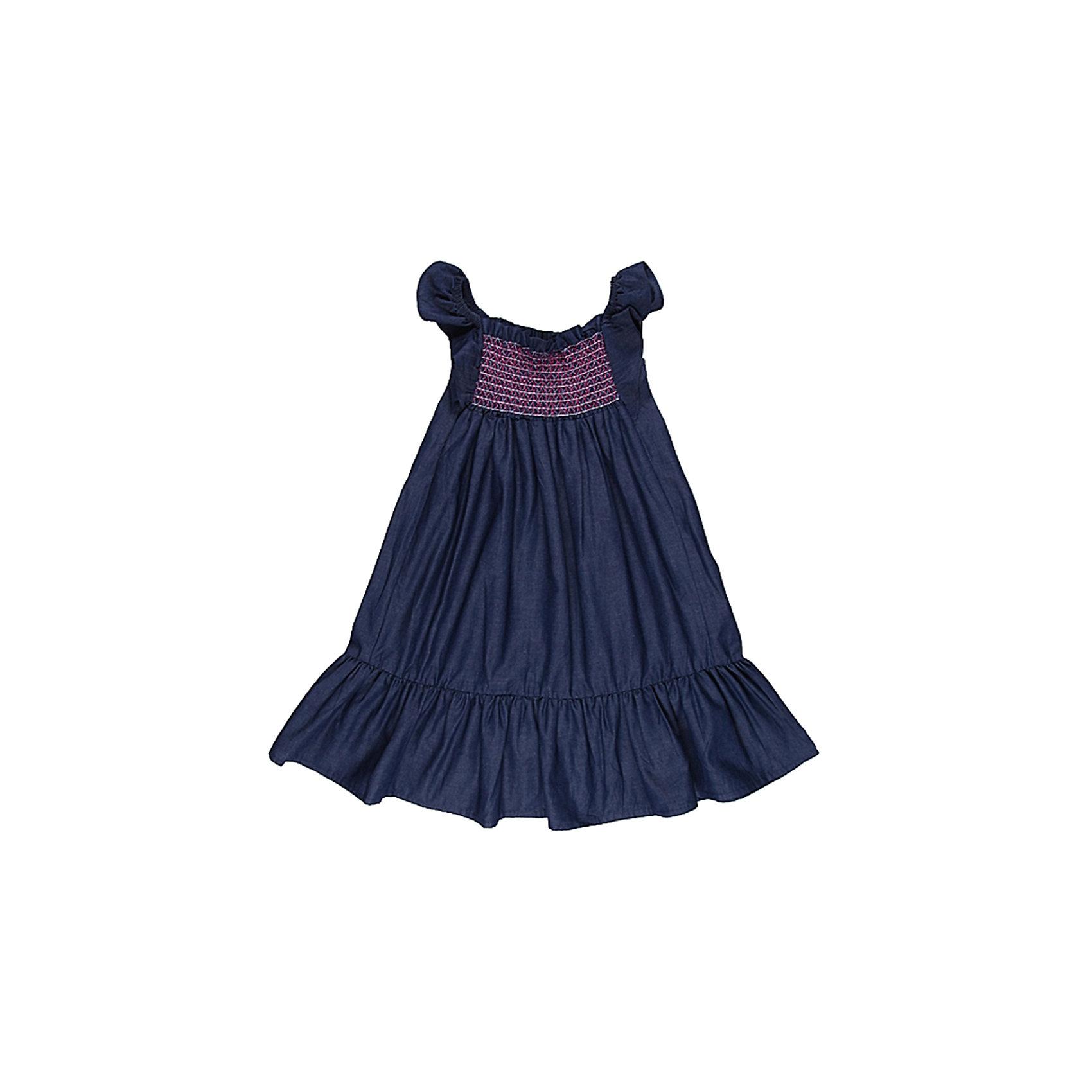 Сарафан джинсовый для девочки Sweet BerryДжинсовая одежда<br>Сарафан на девочку из тонкой джинсы, рукава-крылышки, лиф прошит разноцветными эластичными нитками, по низу пришита широкая оборка.<br>Состав:<br>100% хлопок<br><br>Ширина мм: 236<br>Глубина мм: 16<br>Высота мм: 184<br>Вес г: 177<br>Цвет: синий<br>Возраст от месяцев: 24<br>Возраст до месяцев: 36<br>Пол: Женский<br>Возраст: Детский<br>Размер: 98,128,122,110,116,104<br>SKU: 4521318