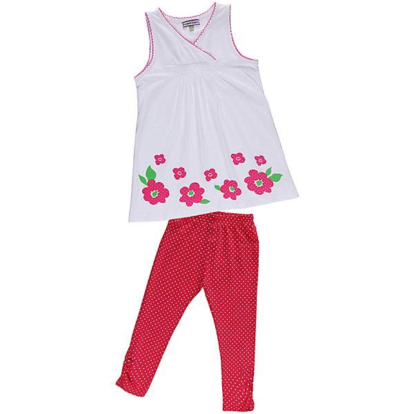 Комплект для девочки: футболка и леггинсы Sweet BerryКомплекты<br>Комплект из эластичного трикотажа. Декорирован принтом, сборкой и фигурной отделкой.<br>Состав:<br>95% хлопок, 5% эластан<br><br>Ширина мм: 199<br>Глубина мм: 10<br>Высота мм: 161<br>Вес г: 151<br>Цвет: розовый/белый<br>Возраст от месяцев: 48<br>Возраст до месяцев: 60<br>Пол: Женский<br>Возраст: Детский<br>Размер: 110,128,116,122,98,104<br>SKU: 4521413