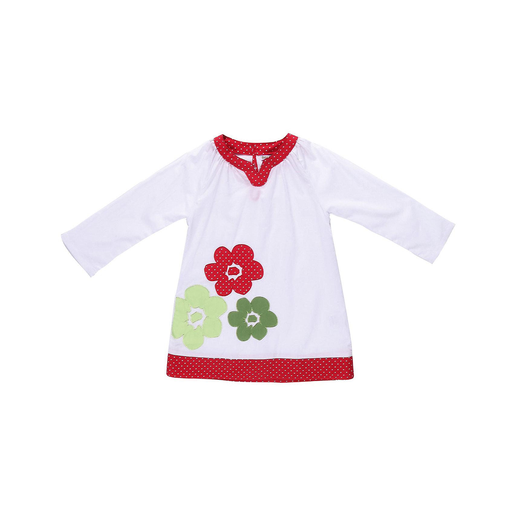 Платье для девочки Sweet BerryПляжное платье из тонкого хлопка, Модель свободного покроя с присборенной горловиной. Украшена аппликацией и цветной планкой по низу.<br>Состав:<br>100% хлопок<br><br>Ширина мм: 236<br>Глубина мм: 16<br>Высота мм: 184<br>Вес г: 177<br>Цвет: разноцветный<br>Возраст от месяцев: 84<br>Возраст до месяцев: 96<br>Пол: Женский<br>Возраст: Детский<br>Размер: 128,110,116,122,104,98<br>SKU: 4521420