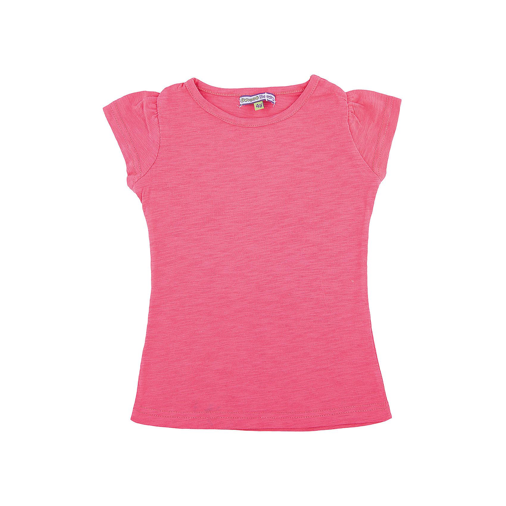Футболка для девочки Sweet BerryФутболки, поло и топы<br>Базовая футболка из эластичного трикотажа. Футболка приталенного силуэта.<br>Состав:<br>100% хлопок<br><br>Ширина мм: 199<br>Глубина мм: 10<br>Высота мм: 161<br>Вес г: 151<br>Цвет: розовый<br>Возраст от месяцев: 84<br>Возраст до месяцев: 96<br>Пол: Женский<br>Возраст: Детский<br>Размер: 128,104,98,122,110,116<br>SKU: 4521474