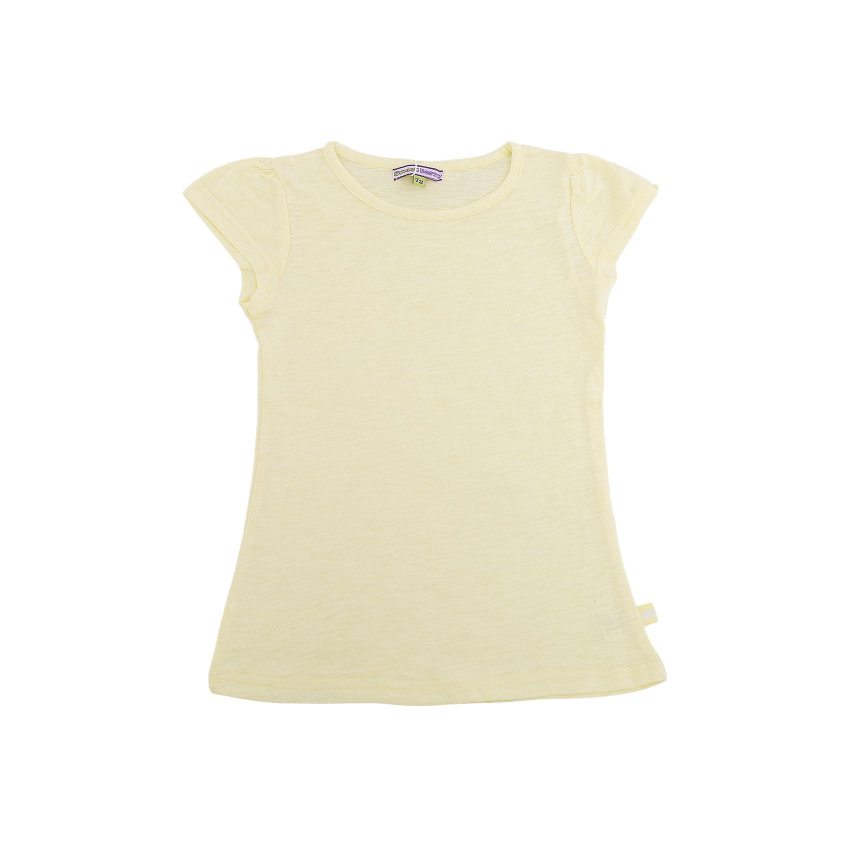 Футболка для девочки Sweet BerryФутболки, поло и топы<br>Базовая футболка из эластичного трикотажа. Футболка приталенного силуэта.<br>Состав:<br>100% хлопок<br><br>Ширина мм: 199<br>Глубина мм: 10<br>Высота мм: 161<br>Вес г: 151<br>Цвет: желтый<br>Возраст от месяцев: 60<br>Возраст до месяцев: 72<br>Пол: Женский<br>Возраст: Детский<br>Размер: 98,128,110,104,122,116<br>SKU: 4521488