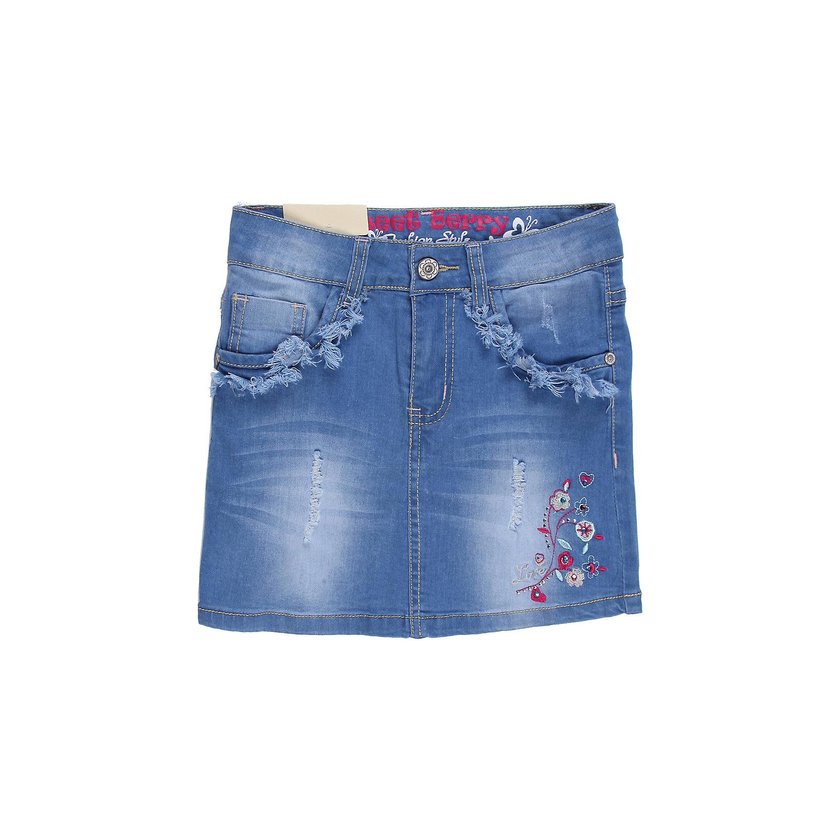 Sweet Berry Юбка джинсовая для девочки Sweet Berry цена 2016