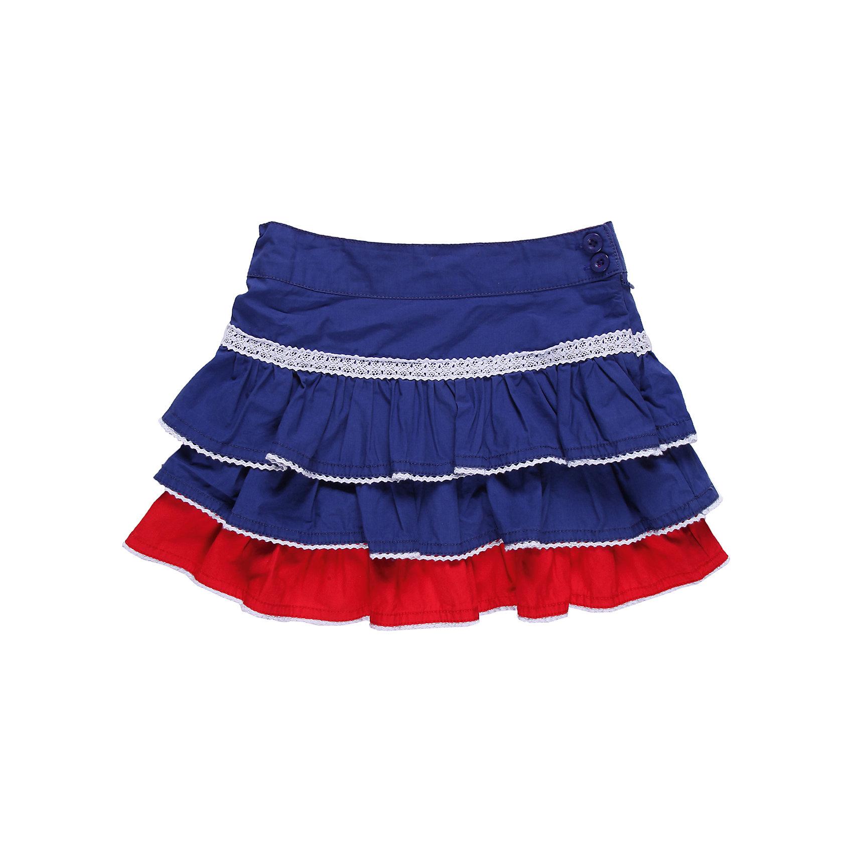 Юбка для девочки Sweet BerryЮбки<br>Хлопковая юбка для девочки, на кокетке с оборками, низы оборок обработаны декоративным швом контрастного цвета. Модель украшена ажурной тесьмой.<br>Состав:<br>100% хлопок<br><br>Ширина мм: 207<br>Глубина мм: 10<br>Высота мм: 189<br>Вес г: 183<br>Цвет: синий<br>Возраст от месяцев: 48<br>Возраст до месяцев: 60<br>Пол: Женский<br>Возраст: Детский<br>Размер: 110,104,116,98,128,122<br>SKU: 4521516