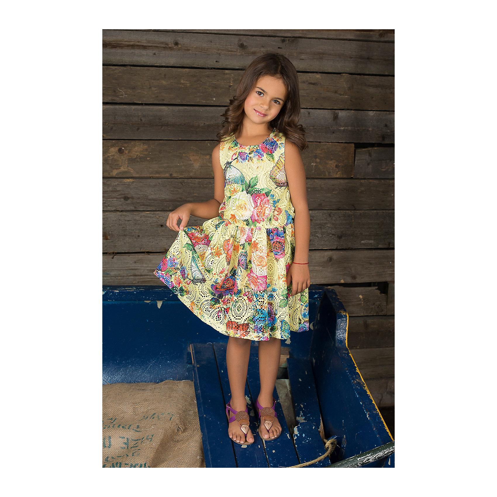 Платье для девочки Sweet BerryРомантичное платье из фактурной трикотажной сетки на подкладке из тонкого трикотажа.<br>Состав:<br>95% хлопок, 5% эластан<br><br>Ширина мм: 236<br>Глубина мм: 16<br>Высота мм: 184<br>Вес г: 177<br>Цвет: желтый<br>Возраст от месяцев: 36<br>Возраст до месяцев: 48<br>Пол: Женский<br>Возраст: Детский<br>Размер: 104,110,128,98,122,116<br>SKU: 4521569