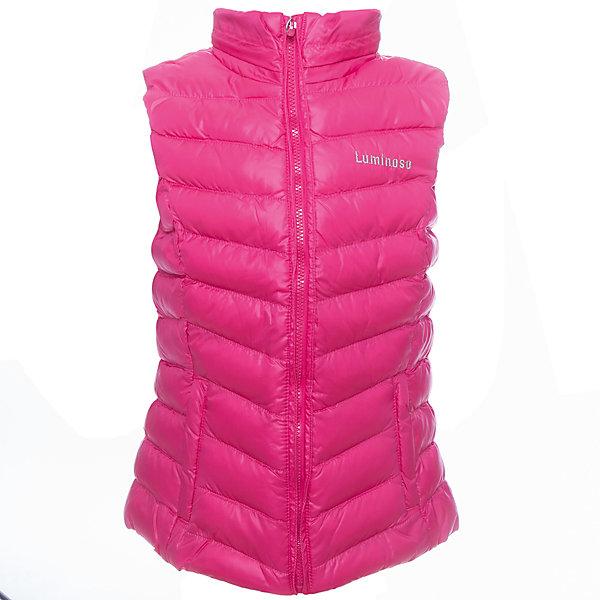 Жилет для девочки LuminosoВерхняя одежда<br>Жилетка легкая для девочки, ярко - розового цвета с отстегивающимся капюшоном.<br>Состав:<br>Верх: 100% полиэстер, Подкладка: 100%полиэстер, Наполнитель: 100%полиэстер<br><br>Ширина мм: 356<br>Глубина мм: 10<br>Высота мм: 245<br>Вес г: 519<br>Цвет: розовый<br>Возраст от месяцев: 156<br>Возраст до месяцев: 168<br>Пол: Женский<br>Возраст: Детский<br>Размер: 164,152,140,146,134,158<br>SKU: 4521660