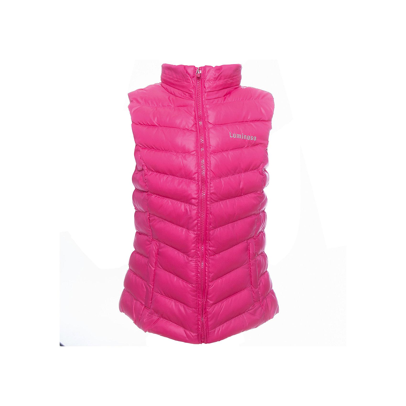 Жилет для девочки LuminosoВерхняя одежда<br>Жилетка легкая для девочки, ярко - розового цвета с отстегивающимся капюшоном.<br>Состав:<br>Верх: 100% полиэстер, Подкладка: 100%полиэстер, Наполнитель: 100%полиэстер<br><br>Ширина мм: 356<br>Глубина мм: 10<br>Высота мм: 245<br>Вес г: 519<br>Цвет: розовый<br>Возраст от месяцев: 108<br>Возраст до месяцев: 120<br>Пол: Женский<br>Возраст: Детский<br>Размер: 140,152,164,158,134,146<br>SKU: 4521660