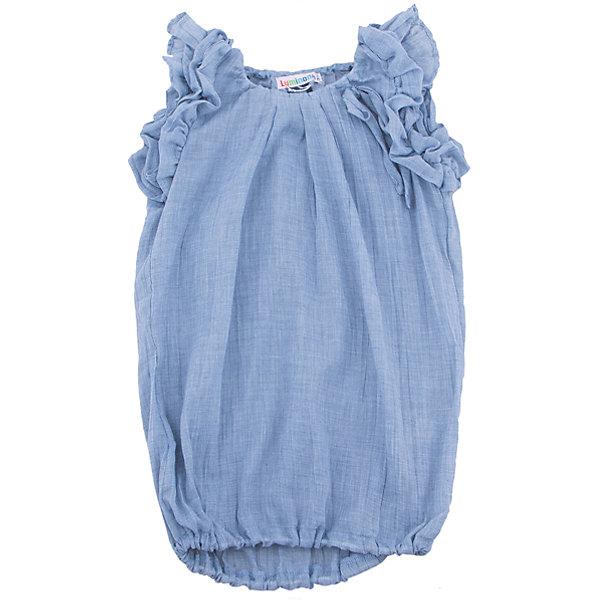 Блузка для девочки LuminosoБлузки и рубашки<br>Блузка для девочки из меланжевого хлопка, удлиненного силуэта, рукава украшены рюшами, низ на резинке.<br>Состав:<br>100% хлопок<br>Ширина мм: 186; Глубина мм: 87; Высота мм: 198; Вес г: 197; Цвет: голубой; Возраст от месяцев: 120; Возраст до месяцев: 132; Пол: Женский; Возраст: Детский; Размер: 146,134,140,152,158,164; SKU: 4521765;