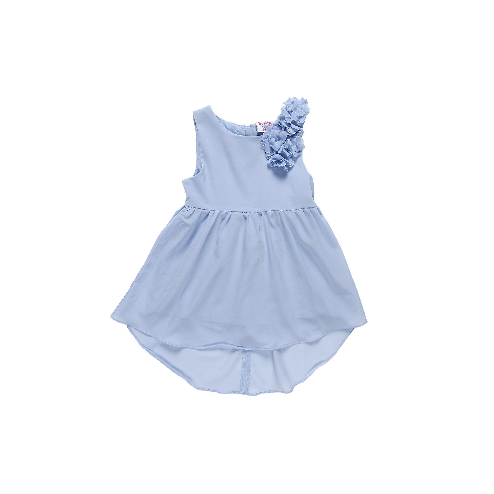 Платье для девочки Sweet BerryПлатья<br>Нарядное летнее платье на девочку, выполнено из шифона, подкладка хлопок, юбка удлиненная сзади. Украшено шифоновыми цветами.<br>Состав:<br>Верх: 100% полиэстер, Подкладка:  100% хлопок<br><br>Ширина мм: 236<br>Глубина мм: 16<br>Высота мм: 184<br>Вес г: 177<br>Цвет: голубой<br>Возраст от месяцев: 9<br>Возраст до месяцев: 12<br>Пол: Женский<br>Возраст: Детский<br>Размер: 80,92,86<br>SKU: 4521983