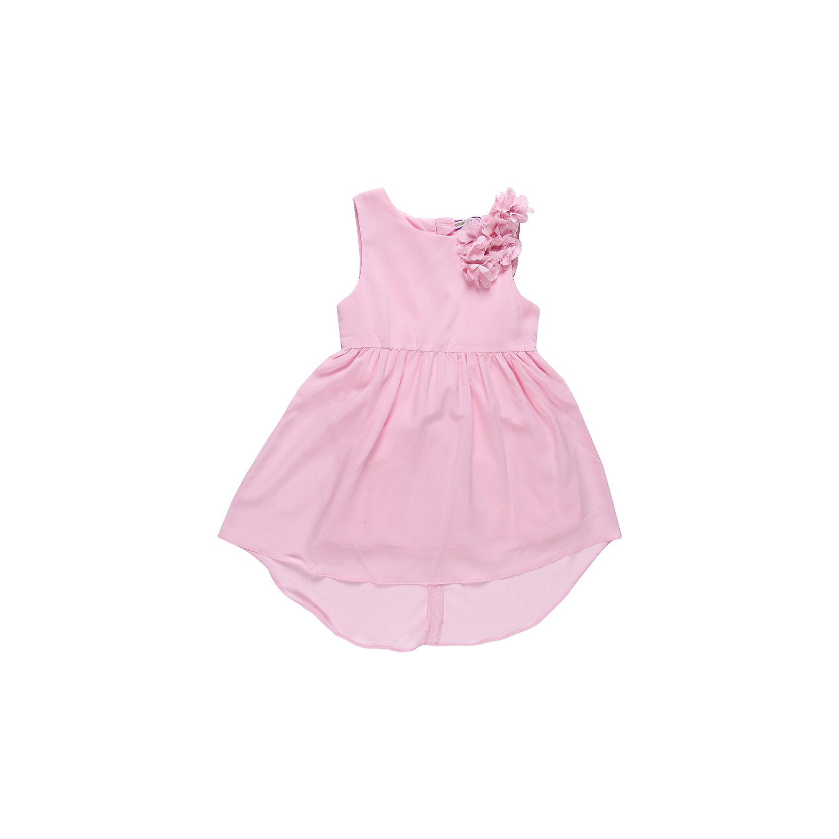 Платье для девочки Sweet BerryНарядное летнее платье на девочку, выполнено из шифона, подкладка хлопок, юбка удлиненная сзади. Украшено шифоновыми цветами.<br>Состав:<br>Верх: 100% полиэстер, Подкладка:  100% хлопок<br><br>Ширина мм: 236<br>Глубина мм: 16<br>Высота мм: 184<br>Вес г: 177<br>Цвет: розовый<br>Возраст от месяцев: 24<br>Возраст до месяцев: 36<br>Пол: Женский<br>Возраст: Детский<br>Размер: 98,116,128,122,110,104<br>SKU: 4521987
