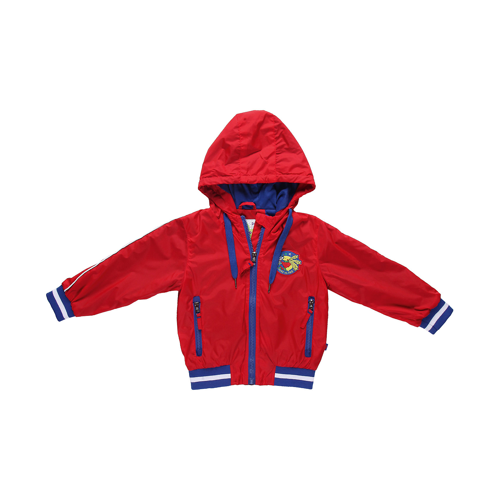 Ветровка для мальчика Sweet BerryВерхняя одежда<br>Ветровка на хлопковой трикотажной подкладке.  Украшенная шевроном.<br>Состав:<br>Верх: 100% нейлон, Подкладка: 65%хлопок, 35% полиэстер<br><br>Ширина мм: 356<br>Глубина мм: 10<br>Высота мм: 245<br>Вес г: 519<br>Цвет: красный<br>Возраст от месяцев: 24<br>Возраст до месяцев: 36<br>Пол: Мужской<br>Возраст: Детский<br>Размер: 98,80,92,86<br>SKU: 4522024