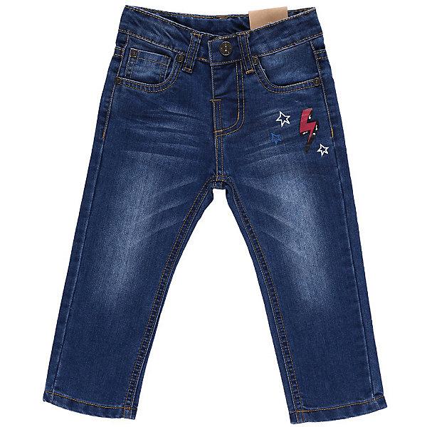 Джинсы для мальчика Sweet BerryДжинсы и брючки<br>Джинсы для мальчика украшенные принтом на переднем и заднем кармане. С регулировкой внутри на поясе.<br>Состав:<br>100% хлопок<br>Ширина мм: 215; Глубина мм: 88; Высота мм: 191; Вес г: 336; Цвет: голубой; Возраст от месяцев: 9; Возраст до месяцев: 12; Пол: Мужской; Возраст: Детский; Размер: 80,92,86,98; SKU: 4522064;