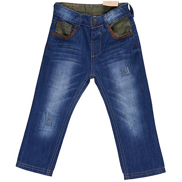 Джинсы для мальчика Sweet BerryДжинсы<br>Джинсы с контрастными вставками из цветной джинсы. С регулировкой внутри на поясе.<br>Состав:<br>100% хлопок<br>Ширина мм: 215; Глубина мм: 88; Высота мм: 191; Вес г: 336; Цвет: синий; Возраст от месяцев: 9; Возраст до месяцев: 12; Пол: Мужской; Возраст: Детский; Размер: 80,98,86,92; SKU: 4522129;