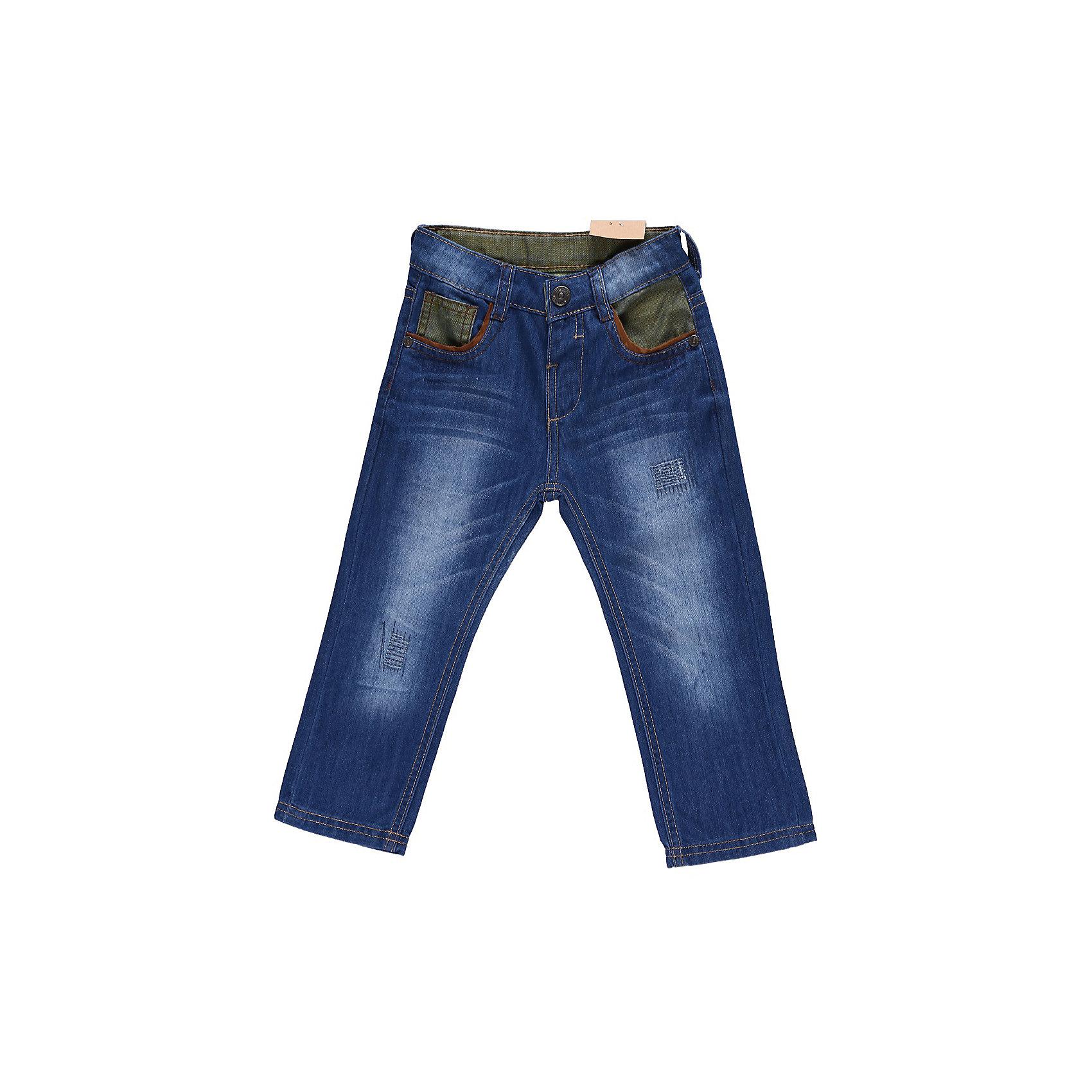 Джинсы для мальчика Sweet BerryДжинсы и брючки<br>Джинсы с контрастными вставками из цветной джинсы. С регулировкой внутри на поясе.<br>Состав:<br>100% хлопок<br><br>Ширина мм: 215<br>Глубина мм: 88<br>Высота мм: 191<br>Вес г: 336<br>Цвет: синий<br>Возраст от месяцев: 9<br>Возраст до месяцев: 12<br>Пол: Мужской<br>Возраст: Детский<br>Размер: 80,98,92,86<br>SKU: 4522129