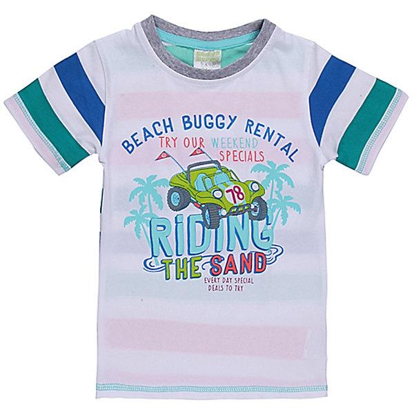 Футболка для мальчика Sweet BerryФутболки, топы<br>Яркая футболка оригинального дизайна для мальчика. Горловина из эластичной трикотажной резинки контрастного цвета. Футболка украшена красивым принтом.<br>Состав:<br>95% хлопок 5% эластан<br><br>Ширина мм: 199<br>Глубина мм: 10<br>Высота мм: 161<br>Вес г: 151<br>Цвет: белый<br>Возраст от месяцев: 9<br>Возраст до месяцев: 12<br>Пол: Мужской<br>Возраст: Детский<br>Размер: 80,92,86,98<br>SKU: 4522462