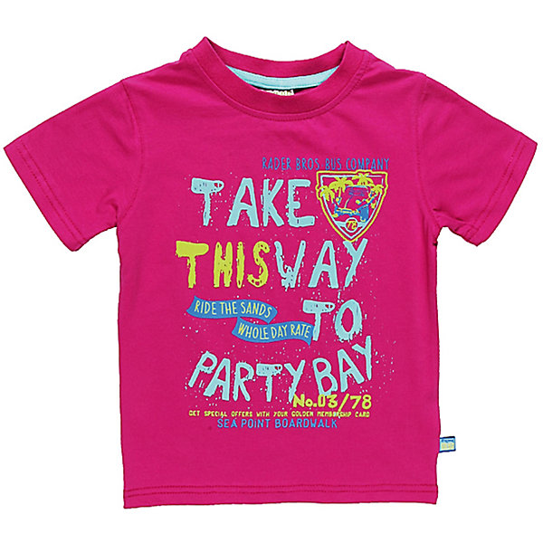 Футболка для мальчика Sweet BerryФутболки, топы<br>Яркая футболка для мальчика. Горловина из эластичной трикотажной резинки контрастного цвета. Футболка украшена ярким принтом.<br>Состав:<br>95% хлопок 5% эластан<br>Ширина мм: 199; Глубина мм: 10; Высота мм: 161; Вес г: 151; Цвет: розовый; Возраст от месяцев: 9; Возраст до месяцев: 12; Пол: Мужской; Возраст: Детский; Размер: 80,92,98,86; SKU: 4522467;