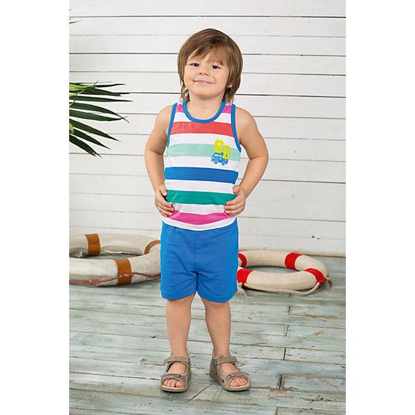 Комплект для мальчика: майка и шорты Sweet BerryКомплекты<br>Комплект майка и шорты для мальчика. Шорты из тонкого трикотажа, на эластичном поясе с внутренней резинкой и дополнительным хлопковым шнурком. Майка украшена принтом.<br>Состав:<br>95% хлопок 5% эластан<br>Ширина мм: 199; Глубина мм: 10; Высота мм: 161; Вес г: 151; Цвет: синий; Возраст от месяцев: 9; Возраст до месяцев: 12; Пол: Мужской; Возраст: Детский; Размер: 80,92,98,86; SKU: 4522482;