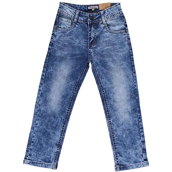 Джинсы для мальчика Sweet BerryДжинсовая одежда<br>Джинсы с оригинальной стиркой и варкой. С регулировкой внутри на поясе.<br>Состав:<br>98% хлопок, 2% эластан<br><br>Ширина мм: 215<br>Глубина мм: 88<br>Высота мм: 191<br>Вес г: 336<br>Цвет: голубой<br>Возраст от месяцев: 36<br>Возраст до месяцев: 48<br>Пол: Мужской<br>Возраст: Детский<br>Размер: 104,122,110,116,128,98<br>SKU: 4522803