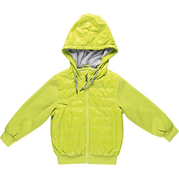 Куртка для мальчика Sweet BerryВерхняя одежда<br>Куртка с трикотажными рукавами и капюшоном. Внутри трикотажная подкладка.<br>Состав:<br>Верх: 100% полиэстер, 65% хлопок, 35% полиэстер, Подкладка: 65% хлопок, 35% полиэстер, Наполнитель: 100% полиэстер<br>Ширина мм: 356; Глубина мм: 10; Высота мм: 245; Вес г: 519; Цвет: зеленый; Возраст от месяцев: 36; Возраст до месяцев: 48; Пол: Мужской; Возраст: Детский; Размер: 104,116,122,128,98,110; SKU: 4522824;
