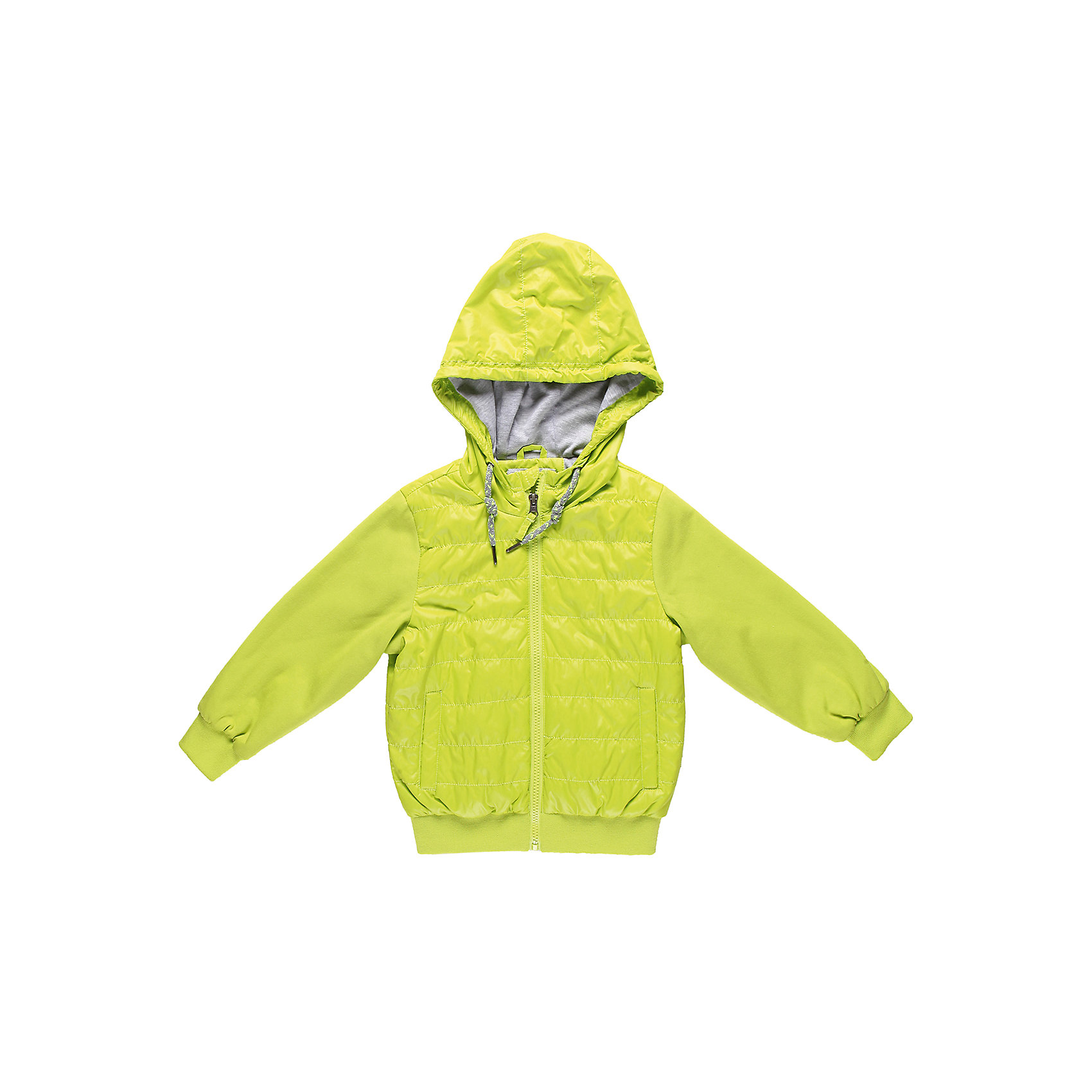 Куртка для мальчика Sweet BerryДемисезонные куртки<br>Куртка с трикотажными рукавами и капюшоном. Внутри трикотажная подкладка.<br>Состав:<br>Верх: 100% полиэстер, 65% хлопок, 35% полиэстер, Подкладка: 65% хлопок, 35% полиэстер, Наполнитель: 100% полиэстер<br><br>Ширина мм: 356<br>Глубина мм: 10<br>Высота мм: 245<br>Вес г: 519<br>Цвет: зеленый<br>Возраст от месяцев: 36<br>Возраст до месяцев: 48<br>Пол: Мужской<br>Возраст: Детский<br>Размер: 104,110,98,128,122,116<br>SKU: 4522824