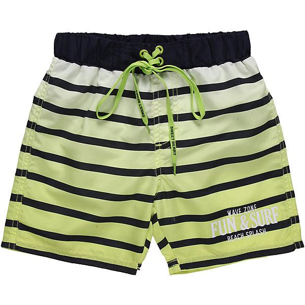 Шорты купальные для мальчика Sweet BerryКупальники и плавки<br>Пляжные шорты из принтованной градиентом  ткани. Эластичный пояс на резинке, регулируется шнурком<br>Состав:<br>100% полиэстер<br><br>Ширина мм: 183<br>Глубина мм: 60<br>Высота мм: 135<br>Вес г: 119<br>Цвет: синий/зеленый<br>Возраст от месяцев: 36<br>Возраст до месяцев: 48<br>Пол: Мужской<br>Возраст: Детский<br>Размер: 104,128,98,140,116,110,122<br>SKU: 4522873