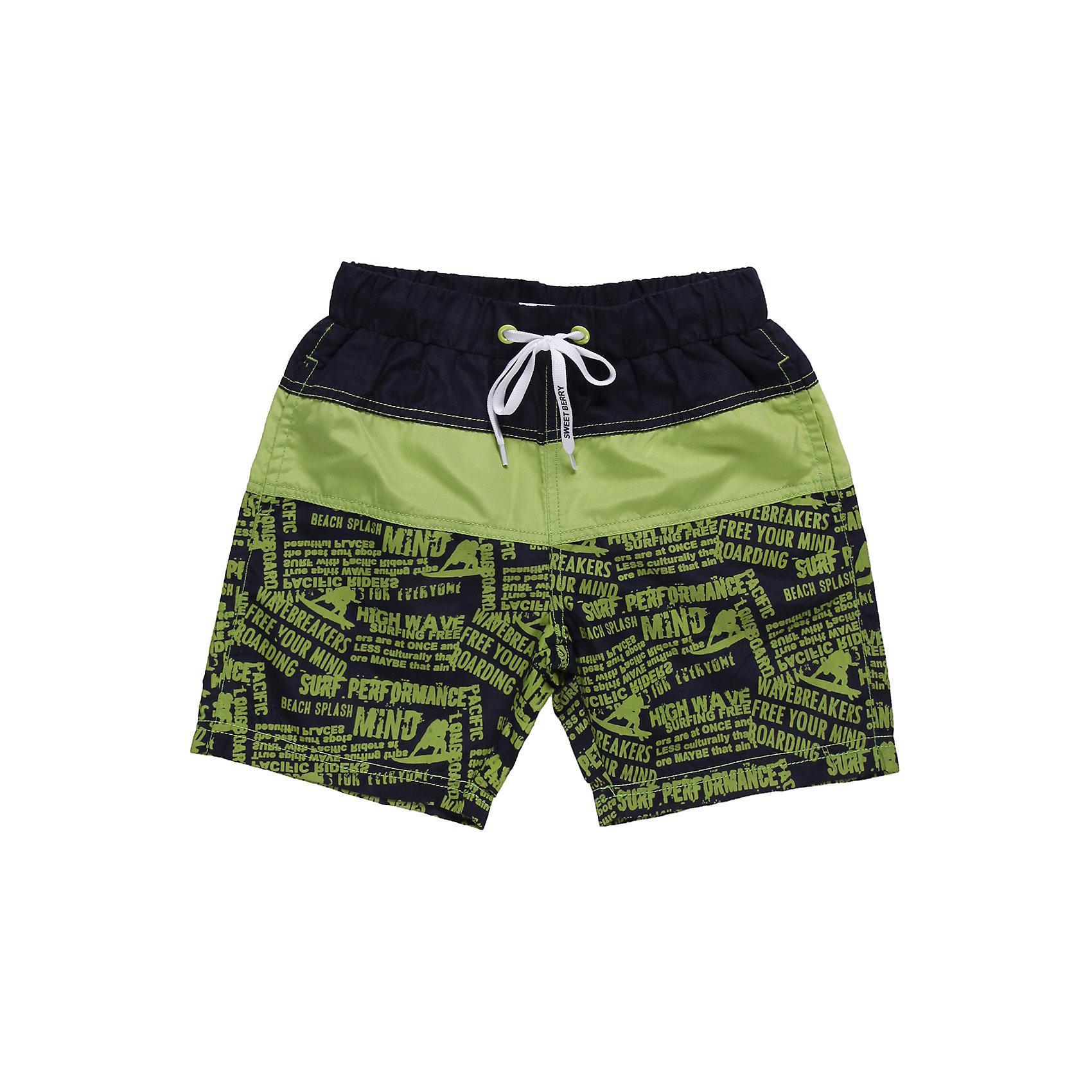 Шорты купальные для мальчика Sweet BerryКупальники и плавки<br>Яркие  пляжные шорты . Эластичный пояс на резинке, регулируется шнурком<br>Состав:<br>100% полиэстер<br><br>Ширина мм: 183<br>Глубина мм: 60<br>Высота мм: 135<br>Вес г: 119<br>Цвет: разноцветный<br>Возраст от месяцев: 36<br>Возраст до месяцев: 48<br>Пол: Мужской<br>Возраст: Детский<br>Размер: 104,122,110,116,128,98<br>SKU: 4522880
