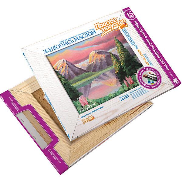 Набор для живописи Озеро в горахНаборы для творчества<br>С помощью этого набора ребенок сможет создать картину, изображающую прекрасный пейзаж. Все наборы подобраны таким образом, чтобы первые детские шаги в искусстве были не утомительными и увлекательными, весёлыми и доступными любому, желающему попробовать себя в творчестве. Кроме того, мы старались сделать так, чтобы в результате «пробы пера» получалась какая-нибудь милая вещица, способная украсить дом или стать трогательным подарком.<br><br>Дополнительная информация:<br><br>- Материал: краски, пластик, текстиль, дерево. <br>- Размер картины: 24х30 см.<br>- Комплектация: холст на подрамнике, 3 кисточки, 6 масляных красок, инструкция.<br>-  Багетная рама в комплект не входит.<br><br>Набор для живописи Озеро в горах можно купить в нашем магазине.<br>Ширина мм: 300; Глубина мм: 20; Высота мм: 245; Вес г: 460; Возраст от месяцев: 108; Возраст до месяцев: 192; Пол: Унисекс; Возраст: Детский; SKU: 4526585;