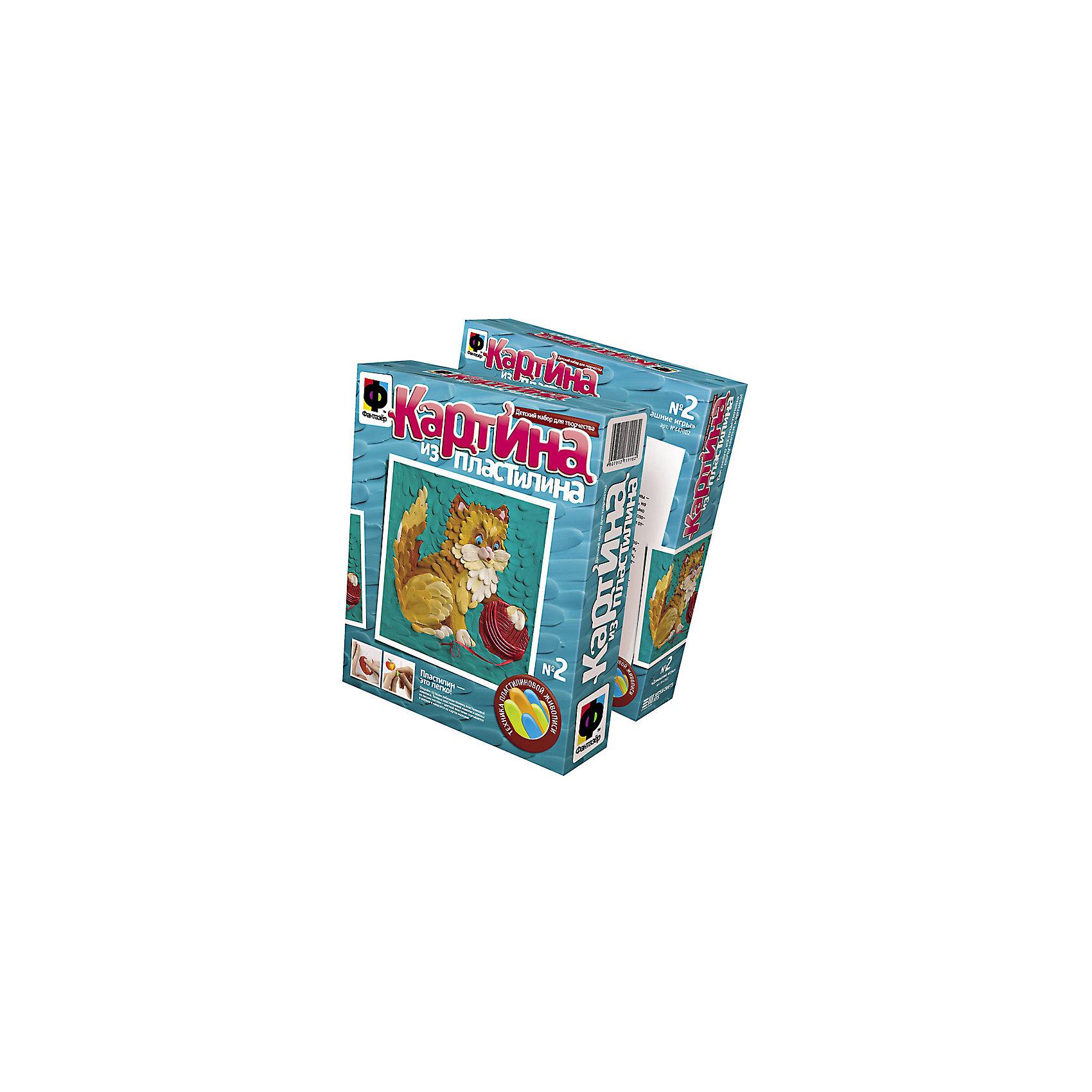 Фантазер Картина из пластилина Кошка набор для творчества фантазер картина из пластилина ежик 447001