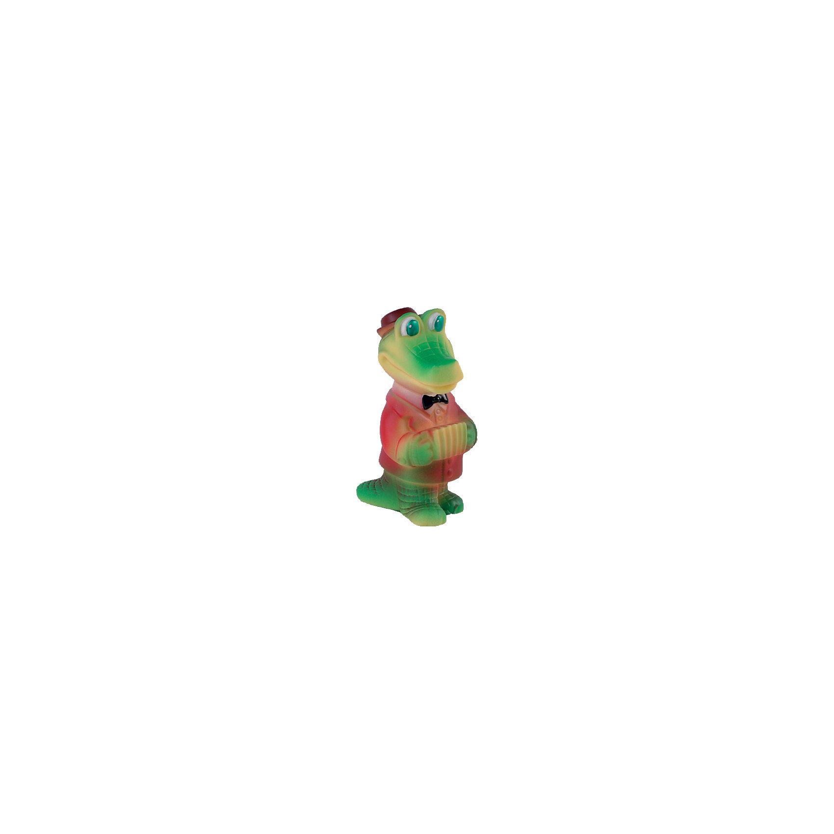 Крокодил-гармонист, ОгонекВсе родители знают, какую важную роль в развитие ребенка играют игрушки из ПВХ, которые многие ошибочно называют «игрушки из резины». Они помогают развивать моторику рук, знакомят с формой, цветом, образами. Раньше, во времена наших родителей, эту роль выполняли резиновые детские игрушки, а теперь можно играть с яркими и безопасными изделиями из ПВХ.<br><br>Ширина мм: 170<br>Глубина мм: 160<br>Высота мм: 95<br>Вес г: 50<br>Возраст от месяцев: 12<br>Возраст до месяцев: 120<br>Пол: Унисекс<br>Возраст: Детский<br>SKU: 4527443