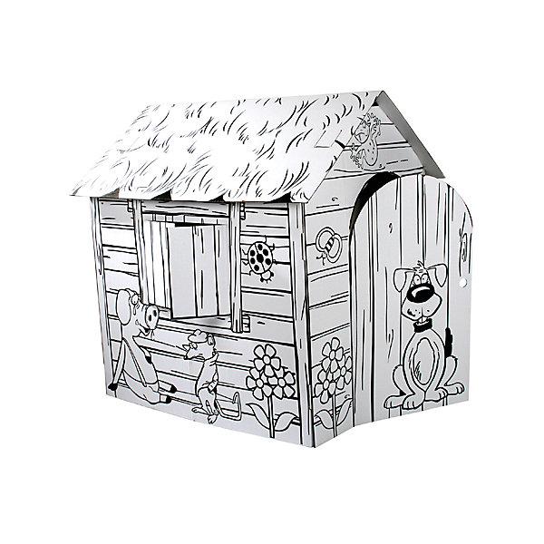 Веселая ферма. Домик из картона, CartonHouseНаборы для раскрашивания<br>Домики из картона предназначены для развития детей и создания атмосферы собственного уютного уголка в Вашем доме. Как правило, дети используют его как тайное место. Там живут их игрушки. Домик становится местом их уединения и спокойствия.<br>Ширина мм: 886; Глубина мм: 460; Высота мм: 38; Вес г: 1950; Возраст от месяцев: 36; Возраст до месяцев: 96; Пол: Унисекс; Возраст: Детский; SKU: 4527460;