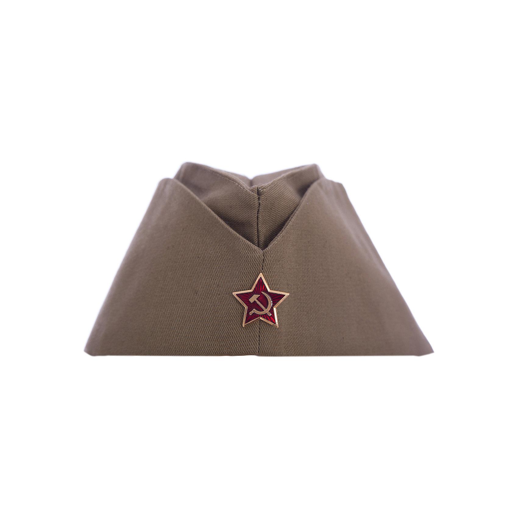 Пилотка детская, ВестификаДетские шляпы и колпаки<br>Настоящая военно-полевая пилотка времен ВОВ (Великой отечественной войны). Пилотка выкроена по оригинальным лекалам, идеально садится на голову. Украшает пилотку настоящая металлическая красная звезда с серпом и молотом.<br><br>Дополнительная информация:<br><br>Материал: Саржа (100% хлопок)<br>Комплектация: пилотка со звездой<br>Рекомендуется для детей старше 3-х лет для кратковременного ношения. <br>Срок службы 5 лет при аккуратном ношении. <br>Способ ухода за изделием: ручная стирка при температуре 30 С° с применением нейтральных моющих средств. <br>Не отжимать. <br>Не сушить в машине. <br>Гладить при низкой температуре.<br><br>Пилотку детскую, Вестифика можно купить в нашем магазине.<br><br>Ширина мм: 236<br>Глубина мм: 20<br>Высота мм: 184<br>Вес г: 360<br>Возраст от месяцев: 60<br>Возраст до месяцев: 144<br>Пол: Унисекс<br>Возраст: Детский<br>SKU: 4528652