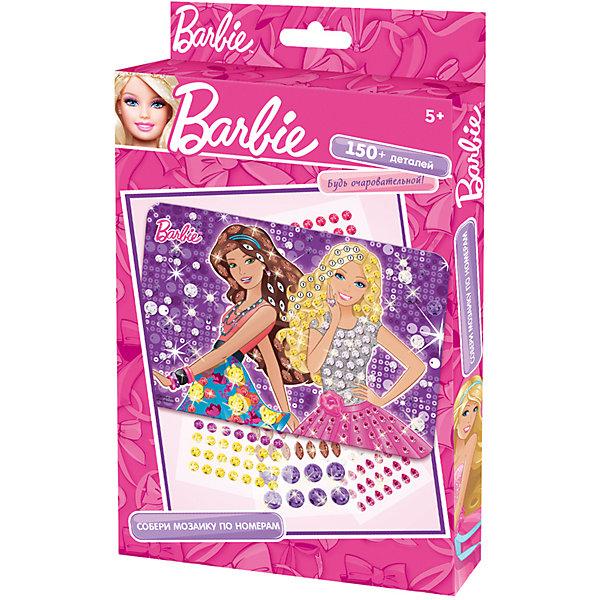 Мозаика по номерам, BarbieМозаика детская<br>Мозаика по номерам, Barbie - увлекательный набор для детского творчества, который поможет Вашей девочке без ножниц и клея сделать красивую картинку. Техника выполнения мозаики проста и не представляет сложностей: на картонную основу уже нанесен рисунок с пронумерованными фрагментами, нужно лишь аккуратно вклеить детали в виде страз согласно указанным цифрам на схеме. Все элементы имеют самоклеющуюся основу, легко приклеиваются и прочно держатся. Итогом работы станет красочная сверкающая мозаика с изображением очаровательной красавицы Барби. Готовая картинка станет отличным украшением детской комнаты или подарком родным и друзьям. Работа с мозаикой развивает у ребенка цветовое восприятие, образно-логическое мышление и пространственное воображение, тренирует мелкую моторику.<br><br>Дополнительная информация:<br><br>- В комплекте: картонная основа с цветным рисунком по номерам, 150+ самоклеящихся страз, подвес.<br>- Размер упаковки: 14,6 х 23,5 x 1,9 см.<br>- Вес: 60 гр.<br><br>Мозаику по номерам, Barbie, Чудо-Творчество, можно купить в нашем интернет-магазине.<br><br>Ширина мм: 146<br>Глубина мм: 235<br>Высота мм: 19<br>Вес г: 600<br>Возраст от месяцев: 72<br>Возраст до месяцев: 120<br>Пол: Женский<br>Возраст: Детский<br>SKU: 4530683