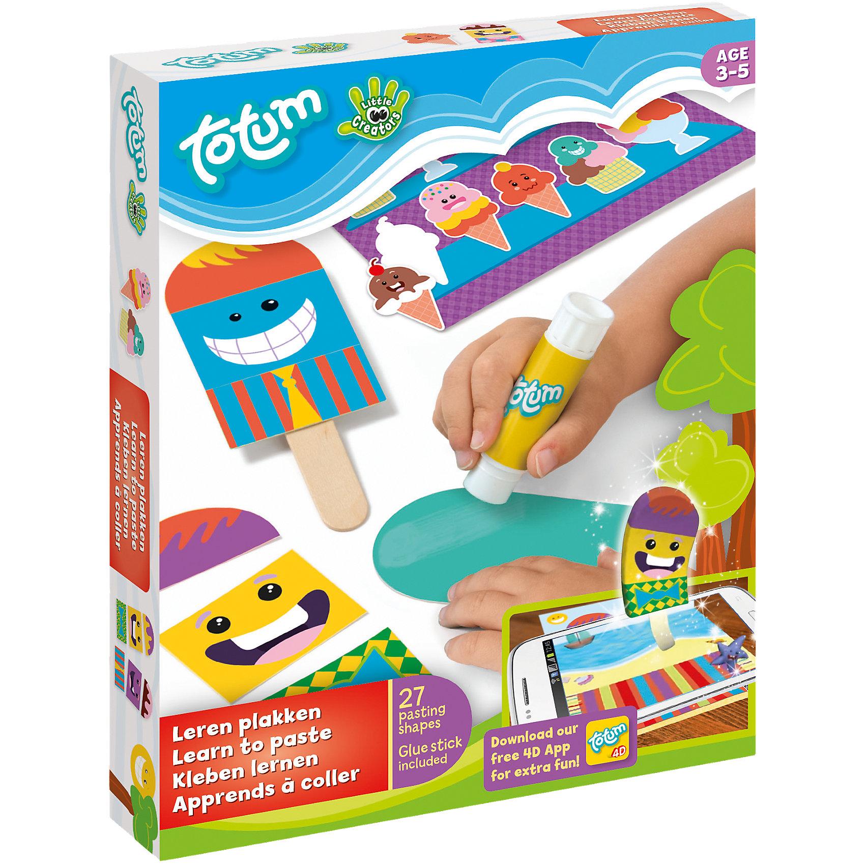 TOTUM Набор для творчества LITTLE CREATORS Учимся клеить totum набор для творчества little creators учимся клеить