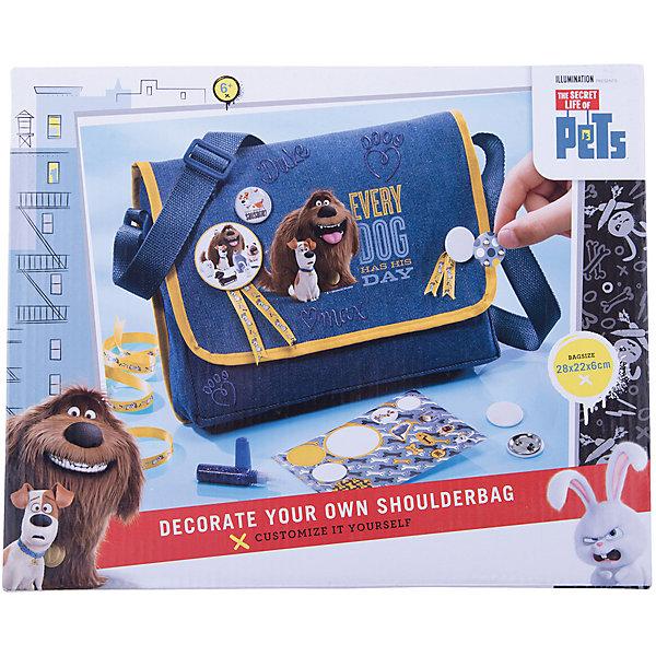 Сумка Тайная жизнь домашних животныхДорожные сумки и чемоданы<br>Набор для творчества Секретная жизнь животных- сумка. Создай свою сумку и сделай ее уникальной. В набор входит: сумка с плечевым ремнем, 1 большой значок, 4 маленьких значка, набор наклеек Секретная жизнь животных, глиттер с синими блестками, ленты с изображением питомцев, инструкция. Рекомендуемый возвраст 6+.<br>Ширина мм: 297; Глубина мм: 246; Высота мм: 48; Вес г: 247; Возраст от месяцев: 60; Возраст до месяцев: 120; Пол: Унисекс; Возраст: Детский; SKU: 4531690;