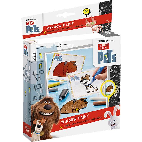 Набор для творчества Тайная жизнь домашних животных оконные краскиДетские витражи<br>Набор для творчества Тайная жизнь домашних животных оконные краски<br><br>Характеристики:<br><br>• можно создать необычные рисунки на окнах<br>• яркий дизайн с любимыми героями<br>• в комплекте: черная краска, 5 разноцветных красок, 2 трафарета, калька, инструкция<br>• вес: 180 грамм<br>• материал: бумага, пластик<br><br>С помощью набора Тайная жизнь домашних животных ребенок сможет самостоятельно украсить окно своей комнаты. Для этого нужно нанести черную краску по трафарету, а затем закрасить узор цветными красками. Получившийся рисунок остается только прогладить утюгом через кальку - прекрасные собачки готовы!<br><br>Набор для творчества Тайная жизнь домашних животных оконные краски можно купить в нашем интернет-магазине.<br><br>Ширина мм: 248<br>Глубина мм: 180<br>Высота мм: 40<br>Вес г: 146<br>Возраст от месяцев: 60<br>Возраст до месяцев: 120<br>Пол: Унисекс<br>Возраст: Детский<br>SKU: 4531692