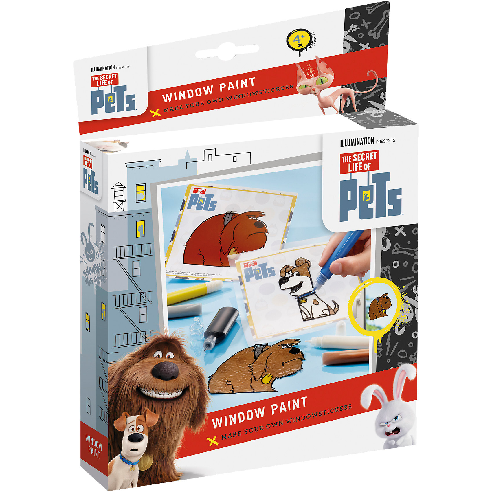 TOTUM Набор для творчества Тайная жизнь домашних животных оконные краски ручки оконные с замком в москве