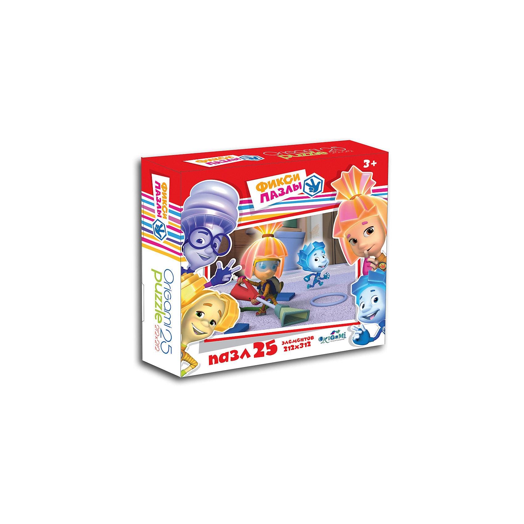 Пазл Фиксики 25 деталей, OrigamiПопулярные игрушки<br>Пазл  Фиксики порадует всех поклонников известного детского мультсериала. Пазл за пазлом ребёнок  будет узнавать о весёлых приключениях Фиксиков, они расскажут много интересного  и познавательного. Играя, ребёнок будет развивать свою кругозор, тренировать мелкую моторику, развивать внимание и усидчивость. <br><br>Дополнительная информация:<br><br>- Материал: картон.<br>- Размер пазла 21,2х21,2 см.<br><br>Пазл Фиксики 25 деталей, Origami (Оригами), можно купить в нашем магазине.<br><br>Ширина мм: 150<br>Глубина мм: 45<br>Высота мм: 150<br>Вес г: 82<br>Возраст от месяцев: 36<br>Возраст до месяцев: 96<br>Пол: Унисекс<br>Возраст: Детский<br>Количество деталей: 25<br>SKU: 4532000