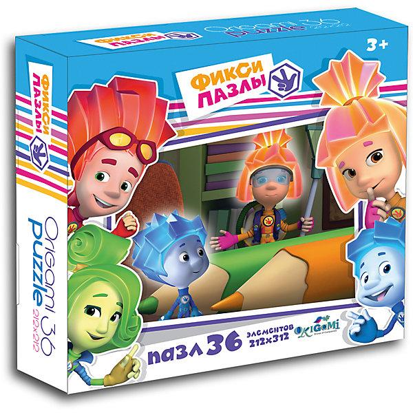 Пазл Карандашики, 36 деталей, Фиксики, OrigamiПопулярные игрушки<br>Пазл Карандашики, Фиксики - увлекательный набор для творчества, который заинтересует Вашего ребенка и подарит ему отличное настроение. Из деталей пазла он сможет собрать красочную картинку с веселым сюжетом из популярного мультсериала Фиксики. Пазл отличается высоким качеством полиграфии и насыщенными цветами. Благодаря ламинированному покрытию картинка надолго сохраняет свой блеск и яркие цвета. Плотный картон не дает деталям мяться и обеспечивает надежное соединение. Собирание пазла способствует развитию логического и пространственного мышления, внимания, мелкой моторики и координации движений.<br><br>Дополнительная информация:<br><br>- Материал: бумага, картон. <br>- Количество деталей: 36.<br>- Размер собранной картинки: 21,2 х 21,2 см.<br>- Размер упаковки: 15 x 4,5 x 15 см.<br>- Вес: 82 гр.<br> <br>Пазл Карандашики, 36 деталей, Фиксики, Origami, можно купить в нашем интернет-магазине.<br>Ширина мм: 150; Глубина мм: 45; Высота мм: 150; Вес г: 82; Возраст от месяцев: 36; Возраст до месяцев: 96; Пол: Унисекс; Возраст: Детский; Количество деталей: 36; SKU: 4532002;