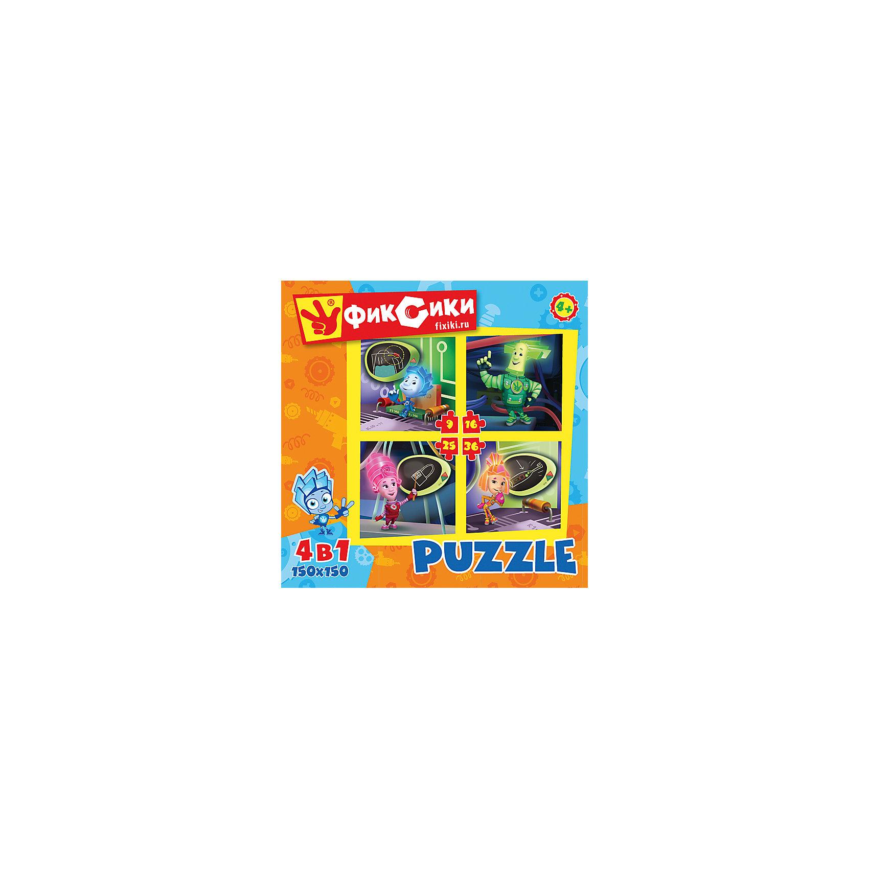 Origami Набор из 4 пазлов Фиксики 9-16-25-36, Origami подарочный набор 3в1 фиксики 00384
