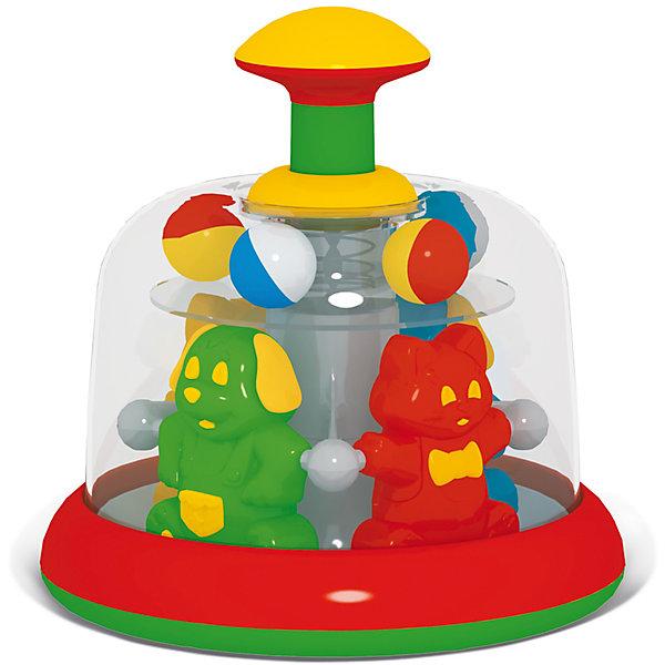 Юла-карусель Цирк, СтелларЮлы, неваляшки<br>Юла-карусель Цирк обязательно понравится малышам и надолго увлечет их. Яркая игрушка поможет развить крохе цветовосприятие, логическое мышление и моторику и, конечно, подарит море положительных эмоций. Юла выполнена из высококачественного пластика абсолютно безопасного даже для маленьких детей. <br><br>Дополнительная информация:<br><br>- Материал: пластик.<br>- Размер упаковки: 17х17х18 см.<br>- В ассортименте. <br>ВНИМАНИЕ! Данный артикул представлен в разных вариантах исполнения. К сожалению, заранее выбрать определенный вариант невозможно. При заказе нескольких игрушек, возможно получение одинаковых.<br><br>Юлу-карусель Цирк, в ассортименте, Стеллар, можно купить в нашем магазине.<br>Ширина мм: 150; Глубина мм: 150; Высота мм: 170; Вес г: 495; Возраст от месяцев: 12; Возраст до месяцев: 60; Пол: Унисекс; Возраст: Детский; SKU: 4532419;