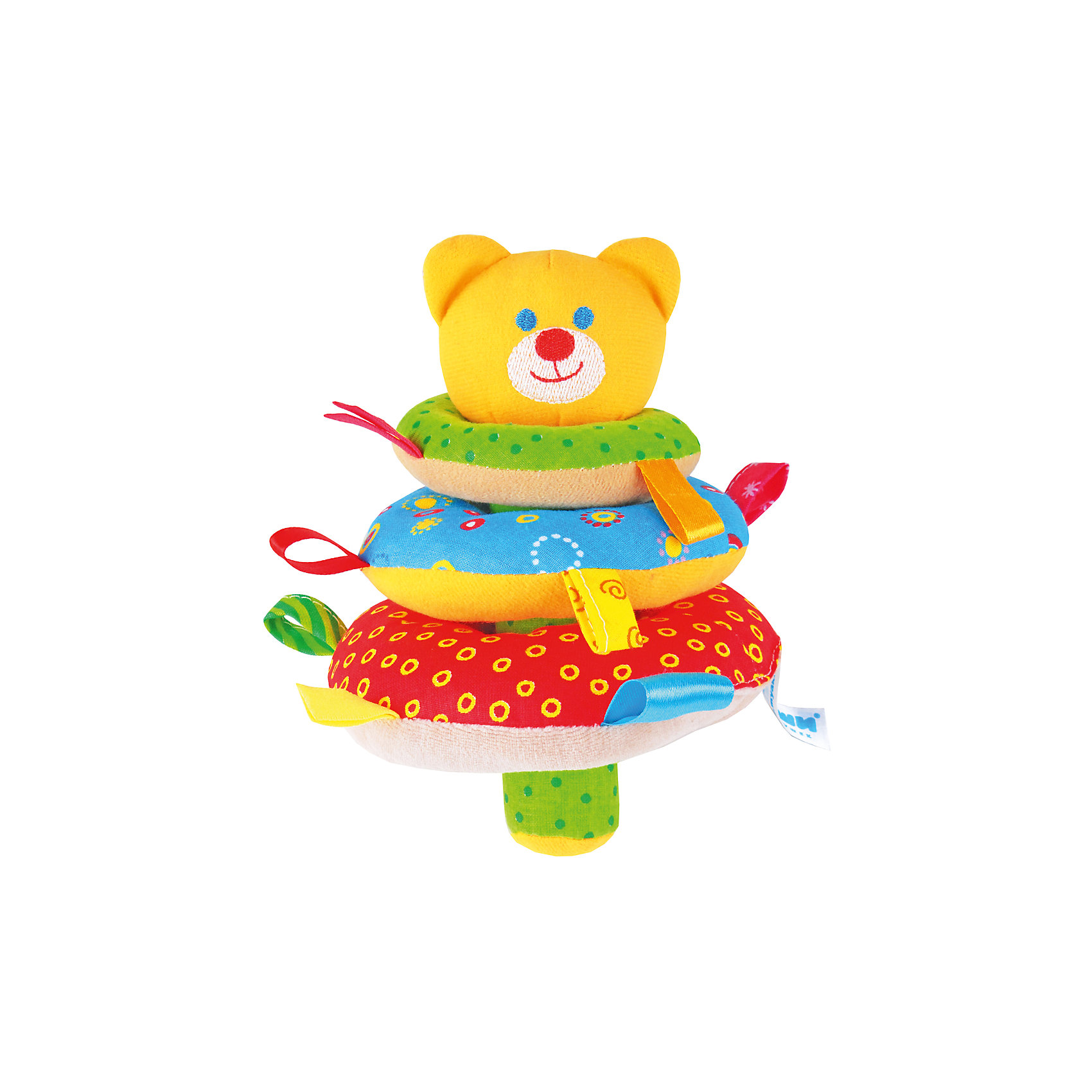 Игрушка ШуМякиши. Пирамидка, МякишиМягкая пирамидка с погремушкой Мишка - это большое количество всевозможных цветных петелек и разнофактурных материалов. У игрушки приятная на ощупь хрустящая ручка. Внутри Мишки и большого колечка погремушка.<br>Игрушка разработана специально для развития мелкой моторики, сенсорного развития, координации движений и тактильных ощущений малыша. <br><br>Дополнительная информация:<br><br>- Материал: хлопок 100%.<br>- Размер :25х15 см.<br>- Погремушка внутри.<br>- Хрустящая ручка.<br>- Цветные петельки.<br>- Разнофактурные материалы.<br><br>Игрушку ШуМякиши. Пирамидка, Мякиши, можно купить в нашем магазине.<br><br>Ширина мм: 200<br>Глубина мм: 150<br>Высота мм: 150<br>Вес г: 200<br>Возраст от месяцев: 12<br>Возраст до месяцев: 36<br>Пол: Унисекс<br>Возраст: Детский<br>SKU: 4532678
