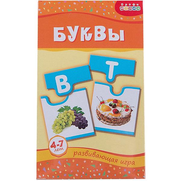Мини-игра Буквы, Дрофа-МедиаКасса букв<br>Мини-игра Буквы, Дрофа-Медиа  - красочное игровое пособие, которое познакомит Вашего малыша с буквами русского алфавита и научит составлять слова. В комплекте 33 карточки-пазла с яркими картинками и крупными буквами. Задача малыша - определить букву, на которую начинается название предмета и правильно соотнести с подходящей карточкой. В процессе дети научатся сравнивать, соотносить, выделять существенные признаки предметов и явлений, классифицировать объекты и объединять их в группы.<br><br>Дополнительная информация:<br><br>- В комплекте: карточки - 33 шт., инструкция.<br>- Материал: картон.<br>- Размер упаковки: 12 x 20 x 3,5 см.<br>- Вес: 85 гр.<br><br>Мини-игру Буквы, Дрофа-Медиа, можно купить в нашем интернет-магазине.<br><br>Ширина мм: 120<br>Глубина мм: 200<br>Высота мм: 35<br>Вес г: 85<br>Возраст от месяцев: 60<br>Возраст до месяцев: 108<br>Пол: Унисекс<br>Возраст: Детский<br>SKU: 4533294