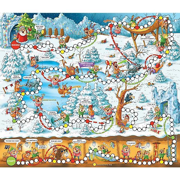 Игра ходилка Гномики , Дрофа-МедиаНастольные игры ходилки<br>Игра ходилка Гномики, Дрофа-Медиа - увлекательная веселая игра, в которую можно играть всей семьей. Живущие под землей гномики решили устроить соревнования - кто быстрей доберется до ледяного дворца Деда Мороза. В пути их ждет множество приключений, препятствий и ловушек. В комплекте Вы найдете игровое поле, 4 фишки и кубик. В игре могут участвовать до 4 игроков. Фишки ставят на старт и определяют первенство хода. Игроки по очереди бросают кубик и делают столько ходов по кружкам на игровом поле, сколько очков выпало на кубике. Выиграет тот, кто первым доберётся до финиша. Традиционные игры-ходилки с кубиком и фишками направлены на развитие эмоций и умения ребёнка общаться с другими детьми<br><br>Дополнительная информация:<br><br>- Серия:  Игры - ходилки.<br>- В комплекте: 4 разноцветные фишки, кубик, игровое поле формата А2.<br>- Материал: бумага, картон.<br>- Размер игрового поля: 56 х 48 см<br>- Размер упаковки: 33 x 25 x 0,5 см.<br>- Вес: 100 гр.<br><br>Игру ходилку Гномики, Дрофа-Медиа, можно купить в нашем интернет-магазине.<br><br>Ширина мм: 240<br>Глубина мм: 280<br>Высота мм: 7<br>Вес г: 185<br>Возраст от месяцев: 36<br>Возраст до месяцев: 84<br>Пол: Унисекс<br>Возраст: Детский<br>SKU: 4533298