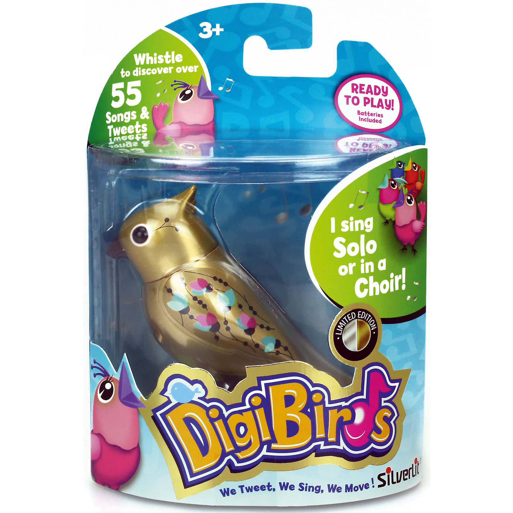 Silverlit Золотая поющая птичка, DigiBirds silverlit digibirds пингвин фигурист с кольцом серый